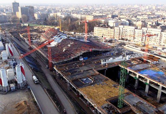 Budowa Dworca Łódź Fabryczna